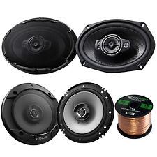 """6x9"""" Kenwood 125W Flush Mount Coaxial Speakers, 6.5"""" Speakers, 50FT Speaker Wire"""