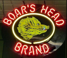 "New Boars Head Brand Beer Neon Sign 19""x15"""