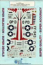 1/48 SuperScale Decals P-51D Mustang 40th FS 35th FG 12th FBS 18th FBS 334th