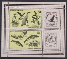 AUCT1206) Australia 1991, NORPEX Newcastle Conserve our Wildlife Mini Sheet, MUH