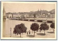 Schweiz, Luzern, Panorama Vintage albumen print Tirage albuminé  11x16  Ci