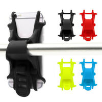 Universal Elastic Silicone Bike Bicycle Handlebar Mobile Phone Mount GPS Holder