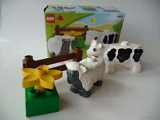 LEGO DUPLO 4658 ANIMALI DA FATTORIA con scatola originale-la vernice di usura su Mucca