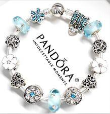 Authentic Pandora Silver Charm Bracelet ANGEL LOVE FAMILY HEART European Charms.