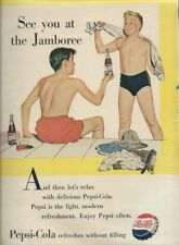 Pepsi-Cola ad from Boys' Life magazine 1953 Swimming boys in Trunks