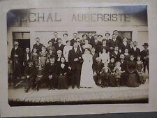 ANCIENNE PHOTO DE MARIAGE - violon, clarinette , aubergiste  -  N°10
