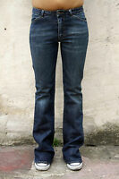 GAS BLUE JEANS FADED Flared BLUE DENIM BOOTCUT STRETCH FIT W27 UK10
