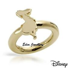 RARE & Collectible Disney Couture Alice in Wonderland Silhoutte Ring Gold Plated