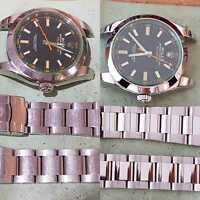 Watch Refurbishing - Finest Detail - Rolex Oyster Case and Bracelet  35yr Trade