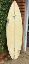 """New listing Nezzy custom 6' 6"""" Surfboard with Channel Islands fins included"""