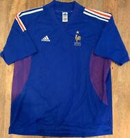 France National Football Team Home Jersey Shirt 2002 Adidas Mens XXL Vintage