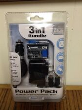NEW Sealed Nintendo DS Lite Power Pak 3 in 1 Bundle Black Li-ion Battery 2 Charg