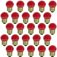 Sunlite 25Pk Red S11 Indicator Incandescent Bulb, 7.5W, Medium Base, Dimmable