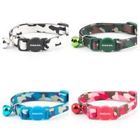 Ancol Camouflage Safety Release Buckle Cat Collar & Bell Black/Pink/Blue/Green