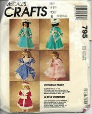 McCalls Crafts 795 Victorian Fancy Doll Clothes. Fits 13-14-15 inch