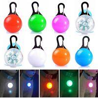8Pcs Pets Light Collars Puppy Dog Cat LED Glow Pendants Flashing Night Safety A+