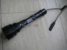 Tactical 5x CREE LED 1-mode Flashlight + Remote Switch Hunting Torch UF