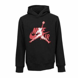 Nike Jordan Big Boys Black Air Fleece Lined Pullover Hoodie