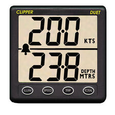 Clipper Duet Instrument Depth and Speed Log Display/Trip Logger with Transducer