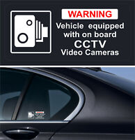 2 Warning Stickers CCTV Video Camera Recording Car Vehicle Sign Safety +