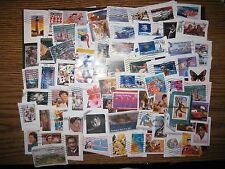 Forever and Self Adhesive US Stamps, Used, 60+ , On Paper, Plus 2 Bonus