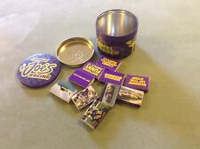 CAMEL SMOKING JOE RACING TIN with 10 packs of original matches