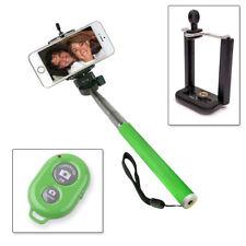 Selfie Stange Teleskop Stick Stab Monopod iOS Android Fernbedienung Grün