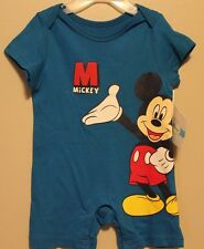 BOYS 3-6 months blue Mickey Mouse Disney romper NWT (1-piece outfit / bodysuit)