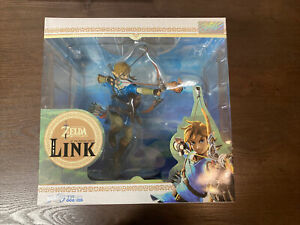 "First4Figures Link 10"" Zelda Breath of the Wild PVC Statue Authentic Nintendo"