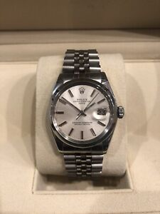 Rolex Mens Stainless Steel Oyster Perpetual Chronometer Watch 5710022