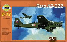 AERO/BLOCH MB 200 - WW II BOMBER (CZECHOSLOVAK AF & LUFTWAFFE MKGS) 1/72 SMER