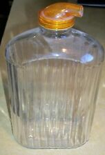 RETRO EZ POR GLASS REFRIGERATOR TEA JUICE CARAFE PITCHER BOTTLE HIGHLAND PARK IL