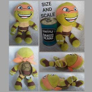 Teenage Mutant Ninja Turtles MICHAELANGELO cuddly plush TNMT soft toy beanie