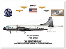 P-3C Orion of the VP-65 Tridents, US Navy Patrol Aircraft profile data print