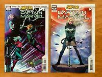 Captain Marvel 19 2020 Jorge Molina Main Cover + Olivetti Empyre Variant NM