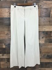 Body by Victoria Women's Marisa Fit Cream Flat Front Wide Leg Dress Pants Size 8