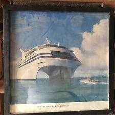 "SSC Radisson Diamond Vintage Print Cruise Ship 21"" Square"