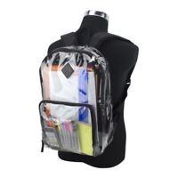 Eastsport Multi-Purpose Clear Backpack with Front Pocket, Adjustable Straps