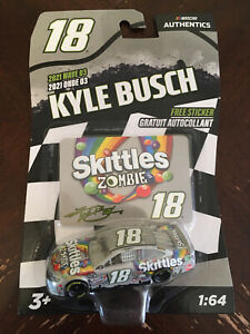 Kyle Busch 1/64 #18 Skittles Zombie Nascar Authentics 2021 Wave 3