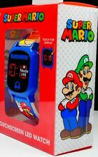 Super Mario Nintendo LED Touchscreen Kids Watch Boys NEW 6+ Ages