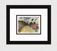 """Enchanting 1947 BONNARD Antique Print """"Road to the Village"""" SIGNED Framed COA"""