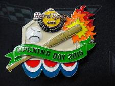 HARD ROCK CAFE*YANKEE STADIUM*OPENING DAY 2015 BASEBALL PIN*NEW IN SEALED BAG