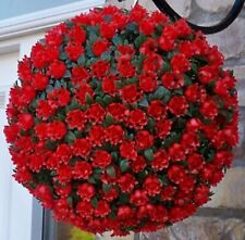 23cm Artificial Rose Flower Balls Topiary Hanging Basket Plant UV Fade Protected