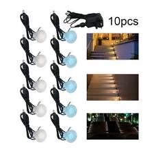 10 pcs 30mm Decking Lights Steel IP44 Outdoor Garden Kitchen Plinth LED Bright
