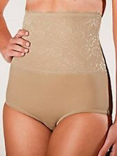 BEIGE PLUSFORM LACE TRIM HIGH WAIST TUMMY SHAPER BRIEF GIRDLE SIZE 2XL 2X NWT
