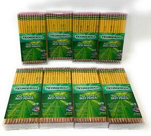 Ticonderoga #2 Pencils Lot - 48 Pack - Pre-Sharpened - Lot of 8 - 384 Pencils!