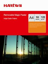 A4 Adhesive 100% Waterproof Repeated Sticky Photo Paper Fabric Hartwii - 10Sheet