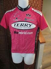 Women's Voler Cycling jersey Pink size Large 3/4 Zip Bike world
