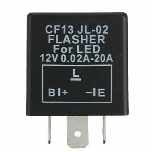Electronic Flasher Unit Relay Indicators 12V For LED Light Turn Signal 3-Pin
