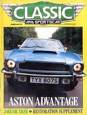 1986 CLASSIC AND SPORTSCAR MAGAZINE 10 JAGUAR XKSS ENGLISCH ENGLISH